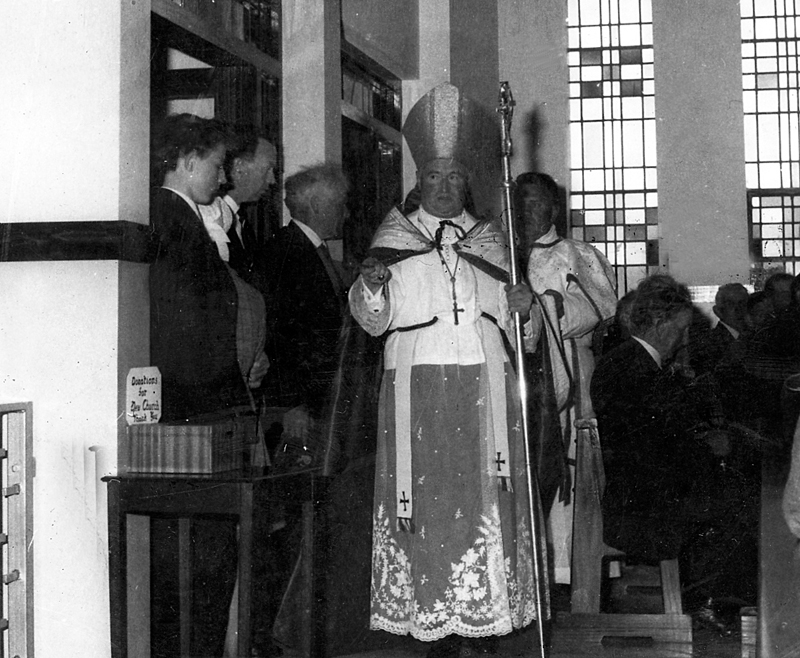 Most Rev Dr. John McCormack at dedication of St. Michael's Church, Rathmolyon, 1968